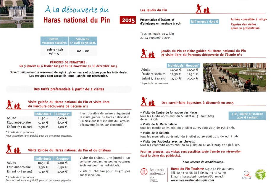 Présentationdu Haras du Pin